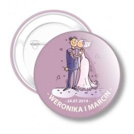 Przypinki Ślubne Weroniki i Marcina nr 36