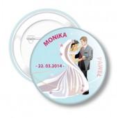 Przypinka Ślubna dla Moniki i Pawła nr 52