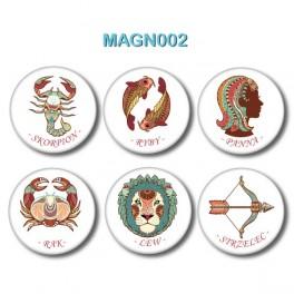 Magnesy na lodówkę - Znaki Zodiaku nr 2