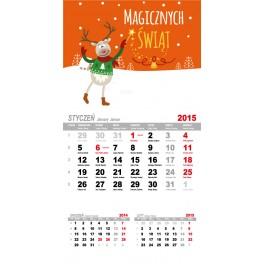 Kalendarze Magnetyczne na lodówkę 12 kartek - magnesy reklamowe na lodówkę