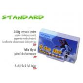 Wizytówki Standard - Karton 300 g, folia błysk