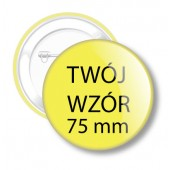 Przypinki na zamówienie 75 mm