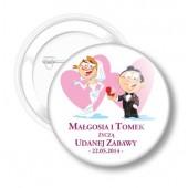 Przypinka Ślubna Małgosi i Tomka nr 28