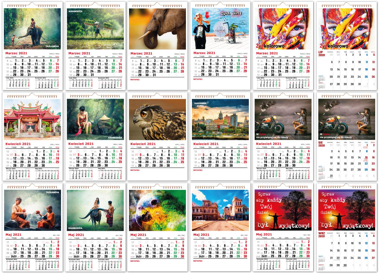 Fotokalendarze spiralne