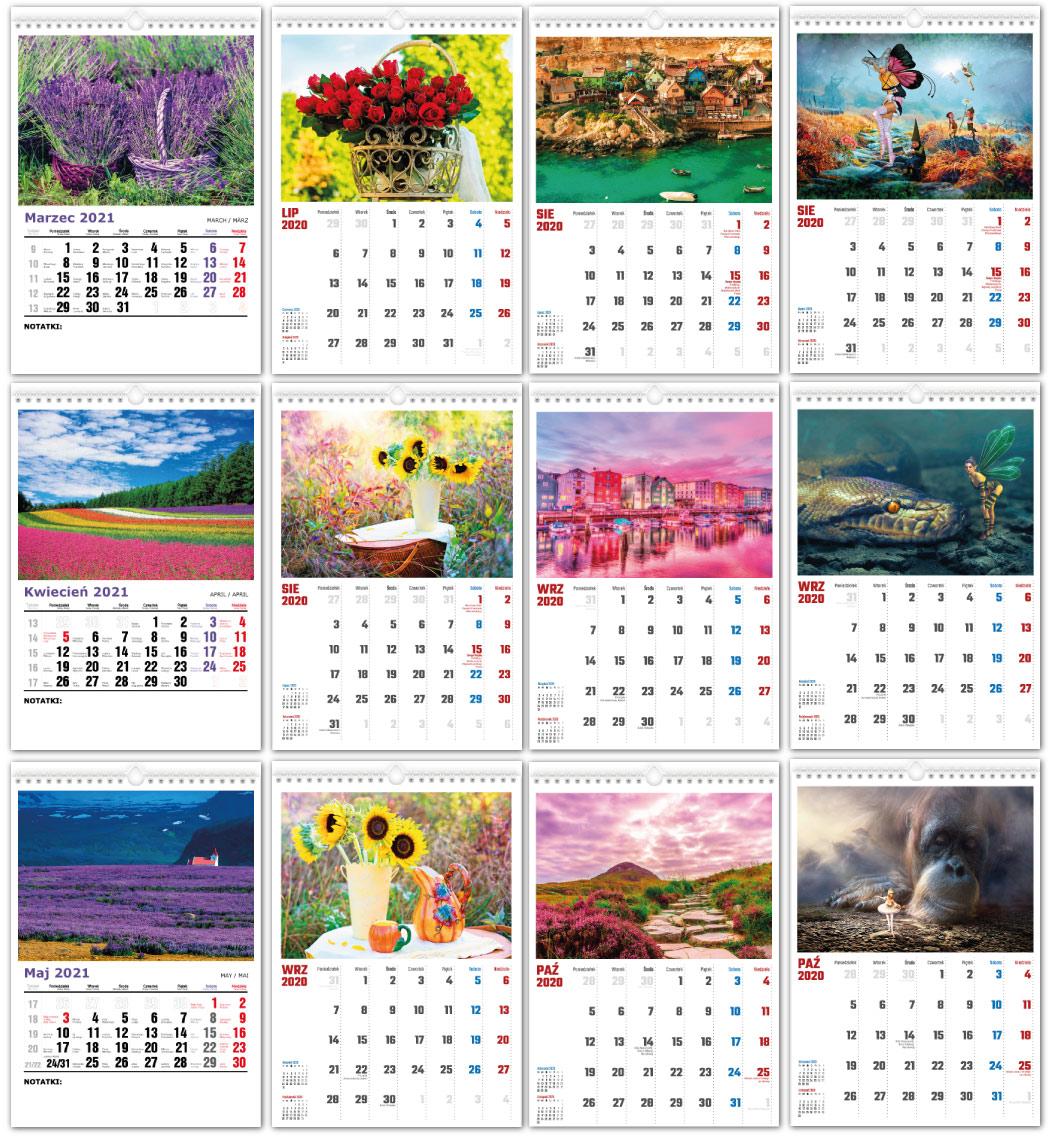Kalendarze Spiralne z własną grafika foro