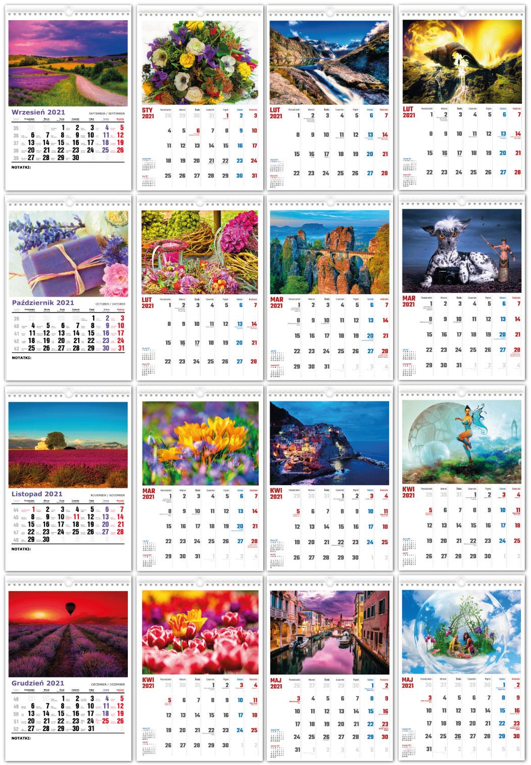 Foto Kalendarze ścienne z zawieszką
