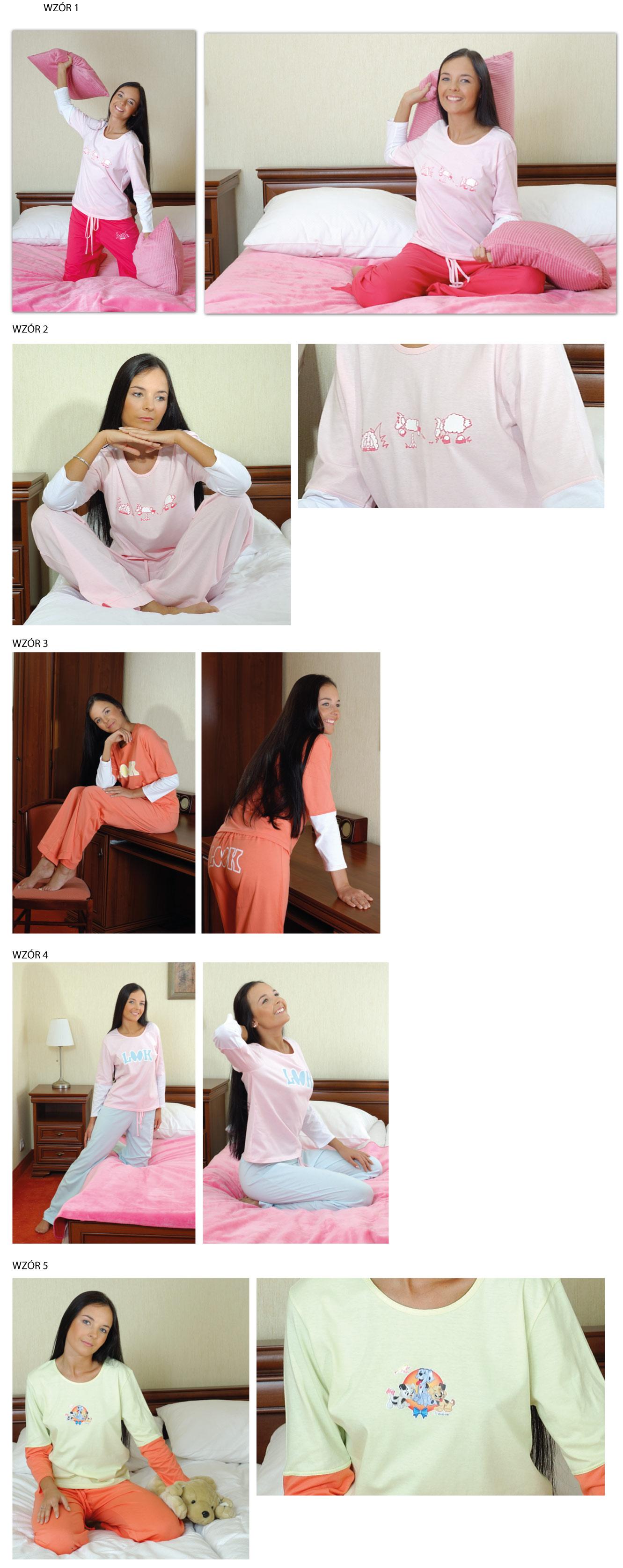 Piżama Bawełniana Damska Młodzieżowa