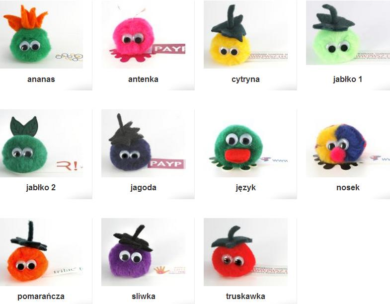Maskotki Reklamowe i pompony owocowe