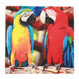 Czyściki do okularów Papugi 15x15 cm