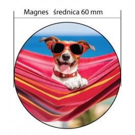 Okagłe Magnesy na lodówkę Ø60mm - Magnesy Reklamowe
