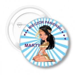 Przypinka na Panieński Marty I